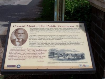 Conrad Moul - The Public Commons Marker image. Click for full size.