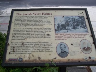 The Jacob Wirt House Marker image. Click for full size.