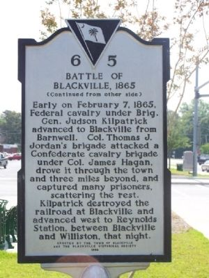 Battle of Blackville Marker image. Click for full size.