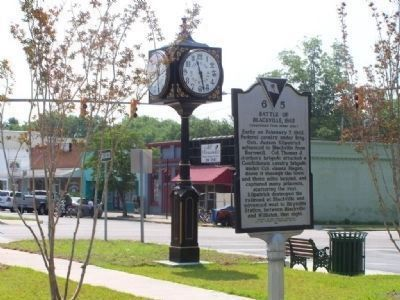 Battle of Blackville Marker looking east on Rail Rd Ave. image. Click for full size.