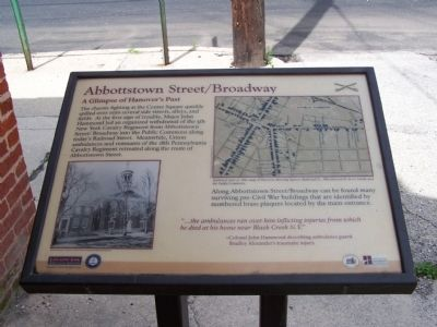 Abbottstown Street/Broadway Marker image. Click for full size.