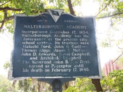Walterborough Academy Marker image. Click for full size.