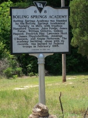 Boiling Springs Academy Marker image. Click for full size.