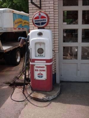 Gas Pump with Glass Glob on Top image. Click for full size.