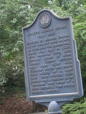 Joseph Dubois House Marker image. Click for full size.