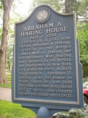 Abraham A. Haring House Marker image. Click for full size.