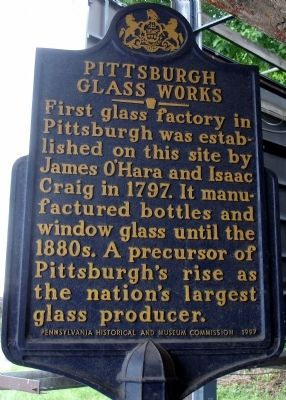 Pittsburgh Glass Works Marker image. Click for full size.