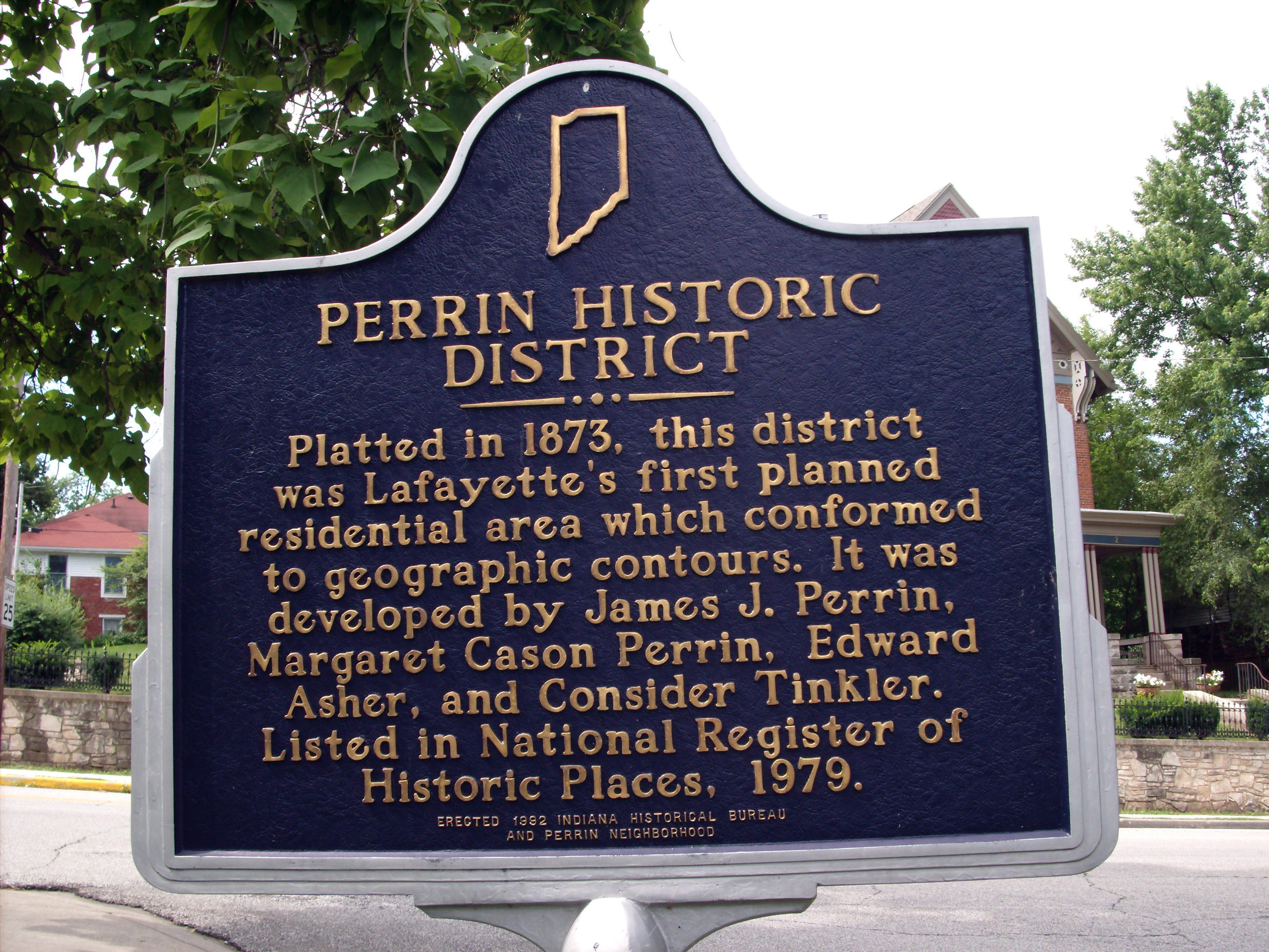 Perrin Historic District Marker