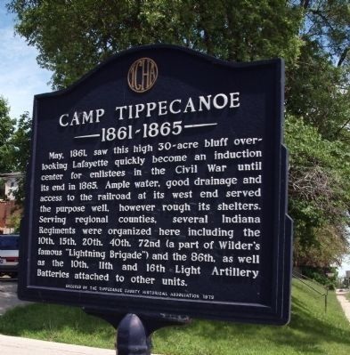 Camp Tippecanoe - - - 1861 - 1865 Marker image. Click for full size.