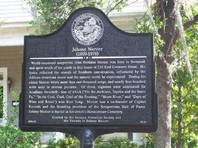 Johnny Mercer Marker image. Click for full size.