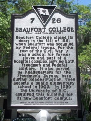 Beaufort College Marker image. Click for full size.
