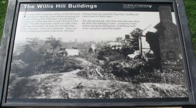 The Willis Hill Buildings Marker image. Click for full size.