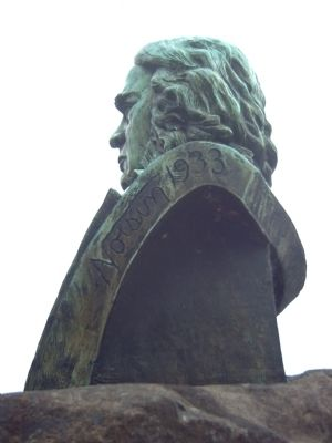 Sculptor's mark on the Dr. John McLoughlin Bust image. Click for full size.
