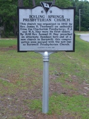 Boiling Springs Presbyterian Church Marker image. Click for full size.