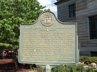 Wheeler's Cavalry at Decatur Marker image. Click for full size.