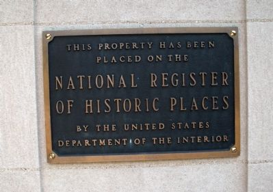 National Register - - Library Marker image. Click for full size.