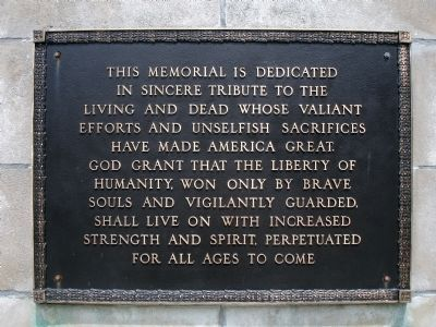 Main Plaque on Monument image. Click for full size.