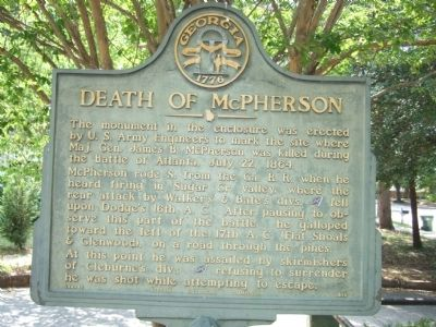 Death of McPherson Marker image. Click for full size.