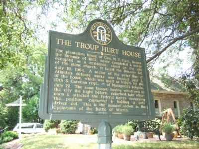 The Troup Hurt House Marker image. Click for full size.