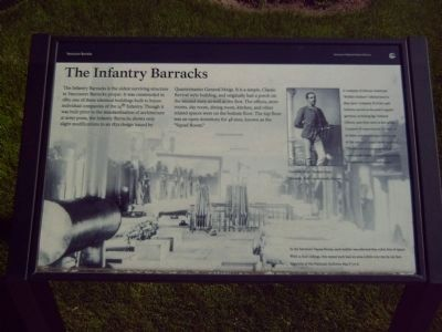 The Infantry Barracks Marker image. Click for full size.