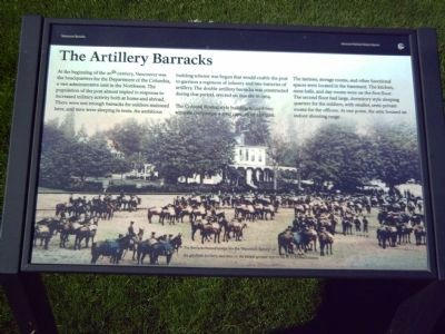 The Artillery Barracks Marker image. Click for full size.