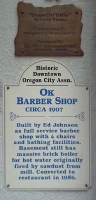 OK Barber Shop Marker image. Click for full size.