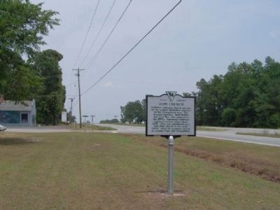 Zion Church Marker looking North on US 301 - US 601 image. Click for full size.