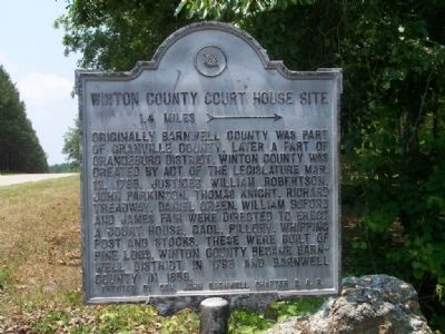 Winton County Court House Site Marker image. Click for full size.