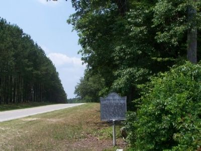 Winton County Court House Site Marker looking southward on SC-3 image. Click for full size.