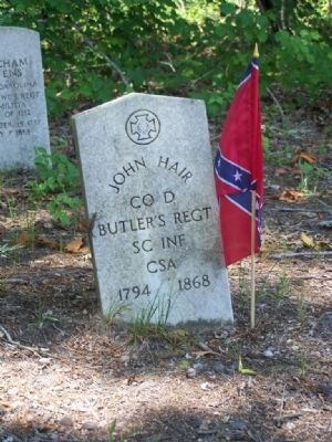Headstone of the only Civil War Veteran image. Click for full size.