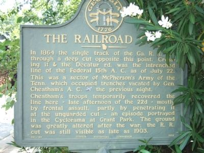 The Railroad Cut Marker image. Click for full size.