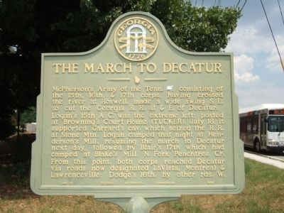 March to Decatur Marker image. Click for full size.