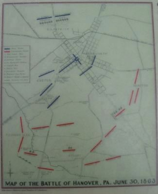 Battle of Hanover Map image. Click for full size.