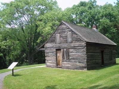 Continental Army Hut with Marker image. Click for full size.