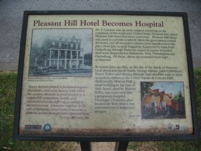 Pleasant Hill Hotel Becomes Hospital Marker image. Click for full size.