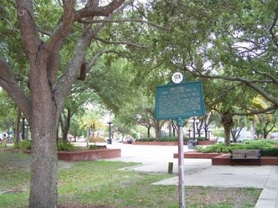 Historic Fire Station No. 4 Marker at Centennial Park image. Click for full size.