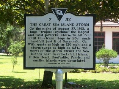 The Great Sea Island Storm Marker image. Click for full size.