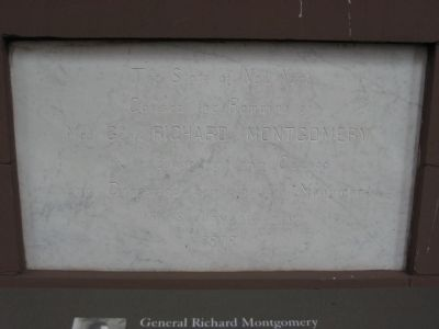 Remains of Maj. Gen. Richard Montgomery Marker image. Click for full size.