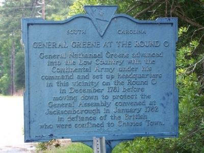 General Greene At The Round O Marker image. Click for full size.