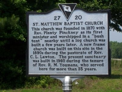 St Matthews Baptist Church Marker image. Click for full size.