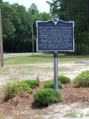Mt. Pleasant Church Marker image. Click for full size.