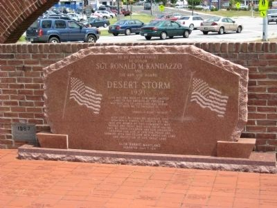 Sgt. Ronald M. Randazzo Marker image. Click for full size.