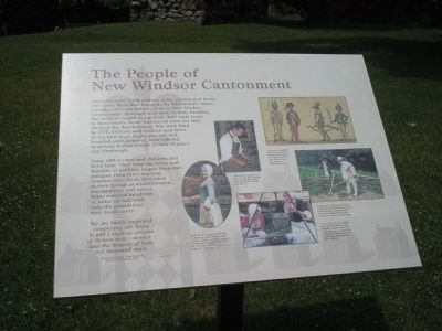 The People of the New Windsor Cantonment Marker image. Click for full size.