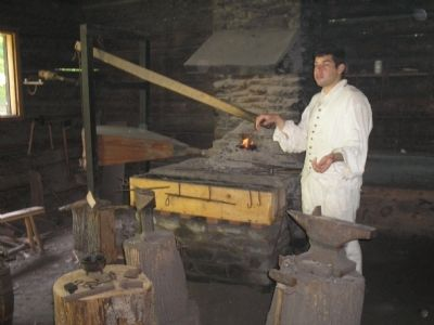 Blacksmith at New Windsor Cantonment image. Click for full size.