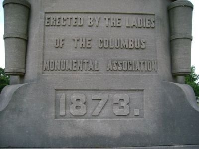C.S.A. Statue Rear Text image. Click for full size.