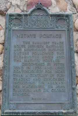 Methye Portage Marker image. Click for full size.