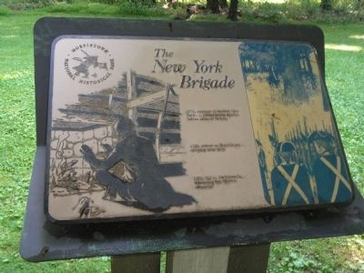 The New York Brigade Marker image. Click for full size.