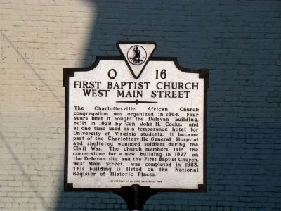 First Baptist Church, West Main Street Marker image. Click for full size.