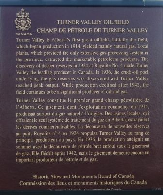Turner Valley Oilfield Marker image. Click for full size.