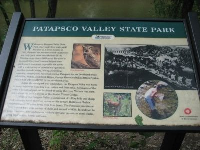Patapsco Valley State Park Marker image. Click for full size.